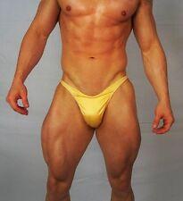 MEN'S LIGHT GOLD POSING SATIN SUIT TRUNKS BODYBUILDER Muscle  $54.00 LARGE