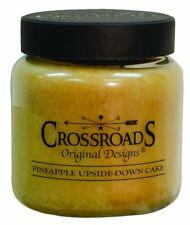 Crossroads Pineapple Upside Down Cake Jar Candle, 16oz