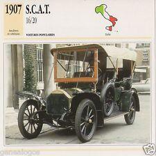 FICHE AUTOMOBILE GLACEE ITALIE CAR S.C.A.T. 16/20 1907