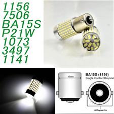 White Backup Reverse S25 P21W 1156 BA15S 7506 1141 144 LED Bulb A1 A V L W X