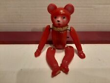 Vintage 1940's Occupied Japan Celluloid Wind-Up Tumbling Monkey Works Good D4