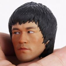 """Custom Bruce Lee 1/6 Male Head Sculpt For 12"""" Phicen Figure Body Game of Death"""