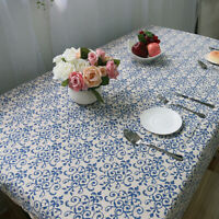 Modern Linen Cotton Tablecloth Party Wedding Table Covers Lace Cloths Washabl