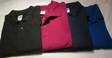 Golf Shirt 2XL Fruit of the loom 6 Pc Lot 4 Color 100 % Cotton