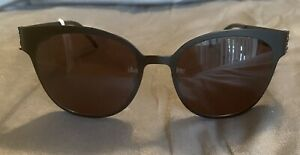 YSL Sunglasses SL M42 006 Black/Gold Metal Frame New