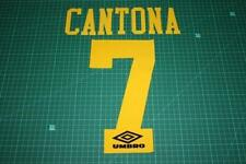 Flocage CANTONA n°7 jaune pour maillot MANCHESTER UNITED  patch football