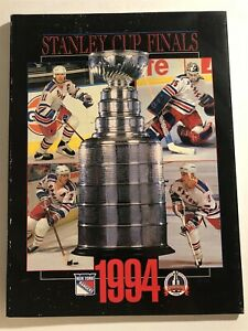 1994 NEW YORK Rangers VANCOUVER Stanley Cup Program MESSIER Leetch MIKE RICHTER
