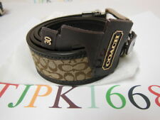 NWT COACH~Khaki  / Mahogany~Reversible Signature Belt 90107 Size: 30