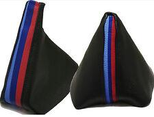 BMW SERIE 3 M3 /// Modello E36-E46 Cuffia Leva Cambio e Freno 100% Vera Pelle