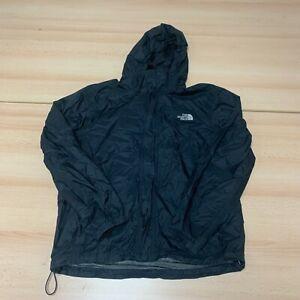 The North Face Coat Mens Medium M Black Hooded Fully Zip Waterproof Jacket