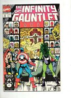 Infinity Gauntlet #2 NM/MINT 9.6 / 9.8 THANOS vs AVENGERS 1991! 1 Black Panther