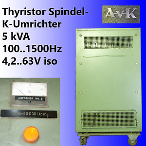 AvK Spindel Frequenz FUV HF Generator Thyristorsteller Umrichter FU Inverter