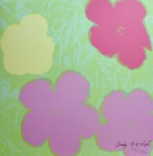 ANDY WARHOL POPPY FLOWERS 1986 HAND NUMBERED 946/2400 SIGNED LITHOGRAPH