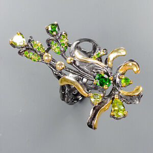 Fine Art Jewelry  Peridot Ring Silver 925 Sterling  Size 5.5 /R151617
