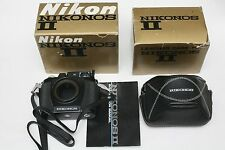 Vintage Nikon Nikonos II underwater film camera & leather case. In boxes.