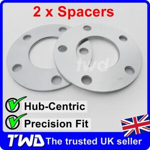 5MM ALLOY WHEEL SPACERS - MERCEDES (5x112 PCD / 66.6MM C/B) HUB-CENTRIC [2Px]