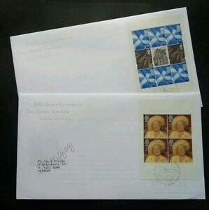 Britain HM Queen The Queen Mother 2000 Royal (FDC pair)