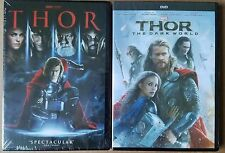 Thor + Thor: The Dark World 1 - 2 DVD Bundle Marvel Set of 2 NEW + FREE SHIPPING