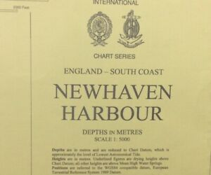 ADMIRALTY  SEA  CHART. NEWHAVEN  HARBOUR. No. 2154. England South Coast. 1973