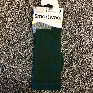 NEW Smartwool Mens Hike Medium Weight Merino Wool Crew Socks - Green - Large