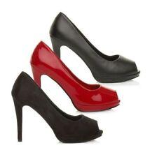 Scarpe col tacco da donna neri altissimo (più di 10 cm)