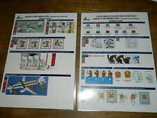 THAILAND bangkok airways AIRBUS A320 Safety card CONSIGNE SECURITE INSTRUCTION