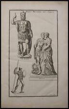 1719 Antique Print Greek Military Outfit Armor Telamon