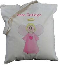 PERSONALISED - ANGEL - NATURAL COTTON SHOULDER / TOTE BAG - Christmas Shopping