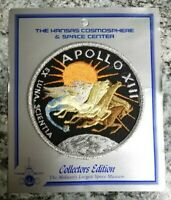 "NASA Apollo XIII Patch Space Mission Cosmosphere Collectors Edition 3 3/4"" New"