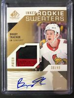 2018-19 SP Game Used Brady Tkachuk Inked Rookie Sweaters Patch Auto /49