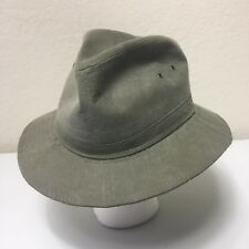 Stetson Mens Large canvas fedora hat Made In USA