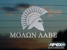 Molon Labe - Come and Take it! Sparta  - Patriot Metal Effect Vinyl Sticker