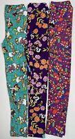 Girls LulaRoe Disney Leggings Lot Of 3 L/XL Size 8-14 Purple Mickey Mouse Daisy