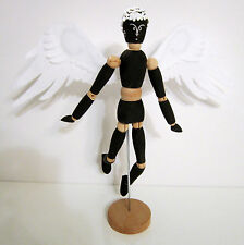 OOAK Fairy Artists Model Mannequin Ball Jointed Articulated Wood BJD Art Doll