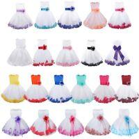Flower Girl Princess Dress Kid Baby Formal Occasion Petals Bridesmaid Tutu Dress