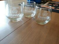 3 O'Mara's Irish Country Cream Round Glasses