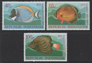 Indonesia 1973 Fish Series 3 set of 3 MUH