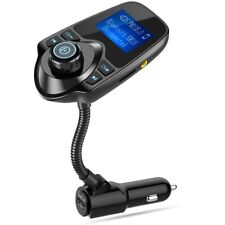 Nulaxy Bluetooth Car FM Transmitter Audio Adapter Handsfree Voltmeter Kit KM18
