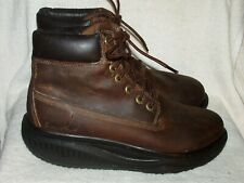 Men's Genuine Leather Ankle Boots by Skechers Shape-Ups-Worn Couple of Times-Sz9