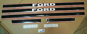 Ford 6610 Tractor Hood Decal Set Black And Red