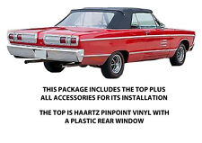 PLYMOUTH FURY III & SPORTS FURY CONVERTIBLE TOP DO IT YOURSELF Pkg 1965-1966