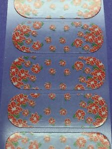 Jamberry Half Sheet - Rare - Retired - May Flowers SSE - Clear Falling Flowers