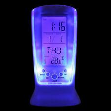 Cool Digital Backlight LED Display Table Alarm Clock Snooze Thermometer Calendar