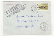 France 1 timbre sur lettre 1984 première liaison Paris Lyon rame TGV  /L435