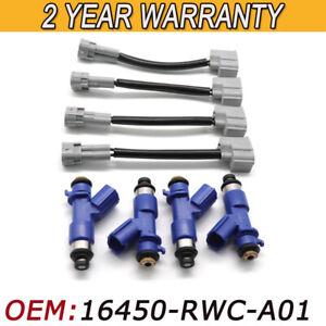 4pcs 410cc Fuel Injectors w/Plug&Play Adapters for Honda Acura RDX 16450-RWC-A01
