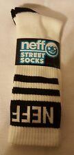 NEFF New World Men's Crew Street Socks - White and Black - NWT