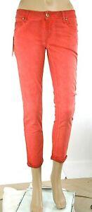 Jeans Donna Pantaloni MET Slim Fit C737 Rosso/Rosa Salmone Tg 27 veste piccolo