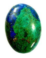 Oval cut Azurite after Malachite Chrysocolla Cabochon 19.09 carat 24.5 x 17.7mm
