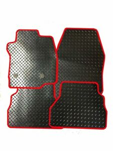 FORD FIESTA ST LINE (2018 ON) - TAILORED DURABLE CAR MATS RUBBER WITH RED TRIM