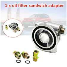 Universal Oil Filter Sandwich Adapter AN10 Oil Cake With Oil Temperature Sensor